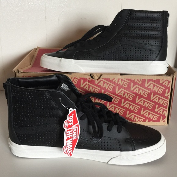 d38088922d NWT Vans Leather Perforated SK8-Hi Reissue Zip